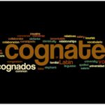Cognate word cloud