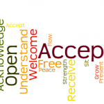 Acceptance word cloud