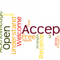 Acceptance word cloud