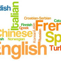 Language word cloud