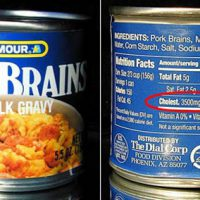 can of pork brains in milk gravy