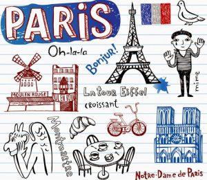 Iconic french symbols
