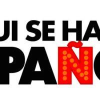 letrero aqui se habla español