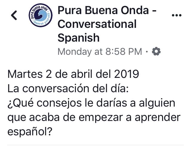 la conversacion del dia en Facebook