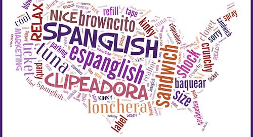 mapa de palabras de spanglish