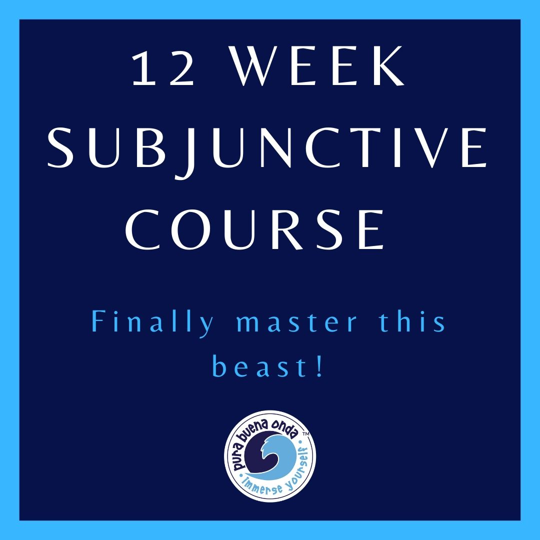 12 week subjunctive course